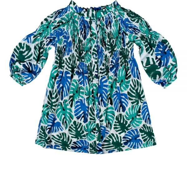 dress print emerald green